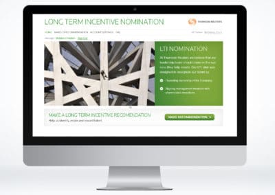 Thompson Reuters LTI Nomination Software Interface Design